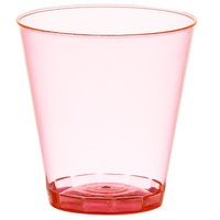 Fineline Quenchers 402-RD 2 oz. Neon Red Hard Plastic Shot Cup - 2500/Case
