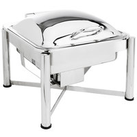 Eastern Tabletop 3954S 6 Qt. Square Stainless Steel Chafer with Stand and Hinged Dome Cover