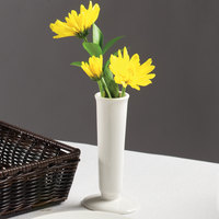 Homer Laughlin 6676000 Pristine 6 inch Bright White China Bud Vase - 12/Case
