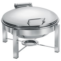 Eastern Tabletop 3948/S 6 Qt. Round Stainless Steel Chafer with Stand and Hinged Dome Cover