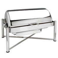 Eastern Tabletop 3124 8 Qt. Stainless Steel Rectangular Roll Top Chafer