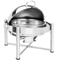 Eastern Tabletop 3128 8 Qt. Stainless Steel Round Roll Top Chafer