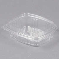 Genpak AD08F 8 oz. Clear Hinged Deli Container with High Dome Lid - 100/Pack