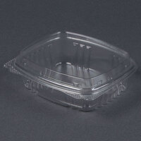 Genpak AD08F 5 3/8 inch x 4 1/2 inch x 2 inch  8 oz. Clear Hinged Deli Container with High Dome Lid – 100 / Pack