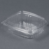 Genpak AD08F 5 3/8 inch x 4 1/2 inch x 2 inch  8 oz. Clear Hinged Deli Container with High Dome Lid - 100 / Pack
