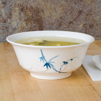 Thunder Group 5265BB Blue Bamboo 25 oz. Round Melamine Scalloped Bowl - 12/Case