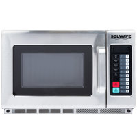 Solwave 2100W Stackable Commercial Microwave with Large 1.2 cu. ft. Interior and Push Button Controls - 208/240V