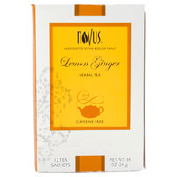 Novus Lemon Ginger Herbal Tea - 12/Box