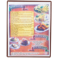 Menu Solutions H500C CHOC Hamilton 8 1/2 inch x 11 inch Single Panel / Two View Chocolate Heat Sealed Menu Board