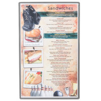 Menu Solutions H500D SILVR Hamilton 8 1/2 inch x 14 inch Single Panel / Two View Silver Heat Sealed Menu Board