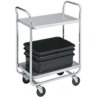 Vollrath 97160 Thrift-I-Cart Chrome 2 Shelf Cart - 24 inch x 16 inch x 36 1/2 inch