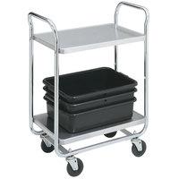 Vollrath 97160 Thrift-I-Cart Chrome 2 Shelf Cart - 24 inch x 16 inch x 36 1/2 inch