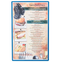 Menu Solutions H500D SKY Hamilton 8 1/2 inch x 14 inch Single Panel / Two View Sky Heat Sealed Menu Board