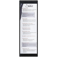 Menu Solutions K22BD BLACK K22-Kent 4 1/4 inch x 14 inch Single Panel / Double-Sided Black Menu Board