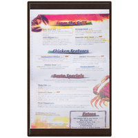 Menu Solutions K22D BROWN K22-Kent 8 1/2 inch x 14 inch Single Panel / Double-Sided Brown Menu Board