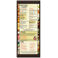 Menu Solutions K22BA BROWN K22-Kent 4 1/4 inch x 11 inch Single Panel / Double-Sided Brown Menu Board