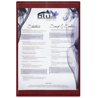Menu Solutions K22B BURG K22-Kent 5 1/2 inch x 11 inch Single Panel / Double-Sided Burgundy Menu Board