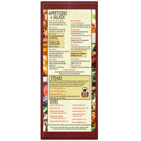 Menu Solutions K22BA BURG K22-Kent 4 1/4 inch x 11 inch Single Panel / Double-Sided Burgundy Menu Board
