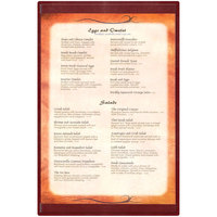 Menu Solutions K22G BURG K22-Kent 11 inch x 17 inch Single Panel / Double-Sided Burgundy Menu Board
