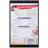 Menu Solutions K22D BLACK K22-Kent 8 1/2 inch x 14 inch Single Panel / Double-Sided Black Menu Board