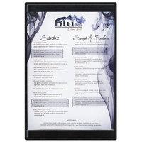 Menu Solutions K22A BLACK K22-Kent 5 1/2 inch x 8 1/2 inch Single Panel / Double-Sided Black Menu Board