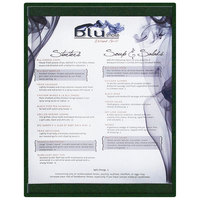 Menu Solutions K22C GREEN K22-Kent 8 1/2 inch x 11 inch Single Panel / Double-Sided Green Menu Board