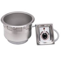 APW Wyott SM-50-7D UL 7 Qt. Round Drop In Soup Well with Drain and UL Electrical Kit