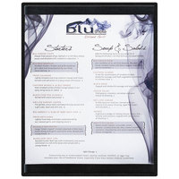 Menu Solutions K22C BLACK K22-Kent 8 1/2 inch x 11 inch Single Panel / Double-Sided Black Menu Board