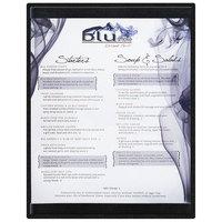 Menu Solutions K22C BLACK K22-Kent 8 1/2 inch x 11 inch Single Panel / Double-Sided Black Menu Board