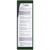 Menu Solutions K22BD GREEN K22-Kent 4 1/4 inch x 14 inch Single Panel / Double-Sided Green Menu Board