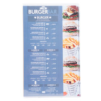Menu Solutions CHS300D 8 1/2 inch x 14 inch Triple Panel / Six View Clear Heat Sealed Menu Cover
