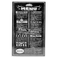 Menu Solutions CHS200E 8 1/2 inch x 14 inch Double Panel / Four View Clear Heat Sealed Menu Cover - 12/Pack