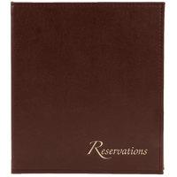 Menu Solutions R080ABN Brown Reservation Binder