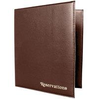 Menu Solutions R080BN Brown Reservation Binder