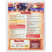 Menu Solutions CHS100A 6 inch x 9 1/2 inch Single Panel / Two View Clear Heat Sealed Menu Cover