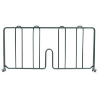 Metro DD18-DSG 18 inch Smoked Glass Wire Shelf Divider
