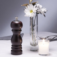 Chef Specialties 06950 Professional Series 6 1/2 inch Black Duo Pepper Mill and Salt Shaker Combo