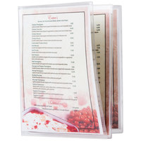 Menu Solutions CHS600C 8 1/2 inch x 11 inch Triple Panel Booklet / Six View Clear Heat Sealed Menu Cover