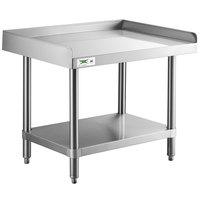 Regency 24 inch x 30 inch 16-Gauge Stainless Steel Equipment Stand With Undershelf