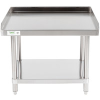 Regency 24 inch x 30 inch 16-Gauge Stainless Steel Equipment Stand With Undershelf