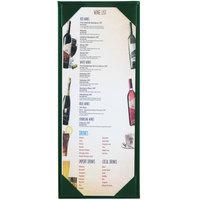 Menu Solutions K111BA GREEN The Kearny Series 4 1/4 inch x 11 inch Single Panel / Double-Sided Green Menu Board