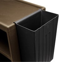 Cambro BC11TC110 Black 11 Gallon Trash Container for Service Carts