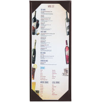 Menu Solutions K111BA BROWN The Kearny Series 4 1/4 inch x 11 inch Single Panel / Double-Sided Brown Menu Board