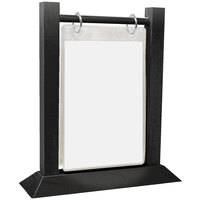 Menu Solutions WFT4S-A 4 inch x 6 inch Black Wood Flip Top Table Tent