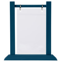 Menu Solutions WFT4S-A 4 inch x 6 inch Denim Wood Flip Top Table Tent - 2/Pack