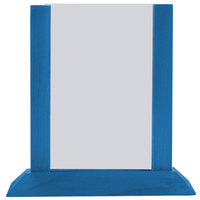 Menu Solutions WPF4S-B 5 inch x 7 inch True Blue Wood Table Tent