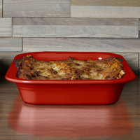 Homer Laughlin 963326 Fiesta Scarlet 9 inch x 13 inch Rectangular Baker - 2/Case