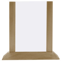 Menu Solutions WPF4S-A 4 inch x 6 inch Antiqued Wood Table Tent