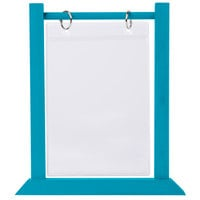 Menu Solutions WFT4S-B 5 inch x 7 inch Sky Blue Wood Flip Top Table Tent