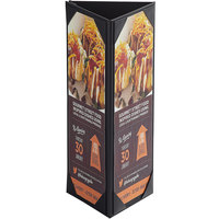 Menu Solutions TT31 4 1/4 inch x 11 inch Triple Panel Table Tent with Picture Corners